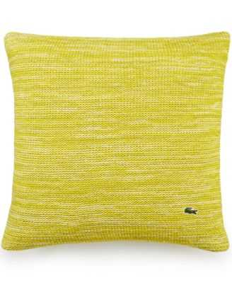 Lacoste Home Chunk Knit Space Dye Square Decorative Pillow - 18x18 - With Insert - Macys