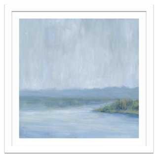 """Soicher Marin, Misty Blue Landscape - 26.5"""" x 26.5"""" - Framed - One Kings Lane"""