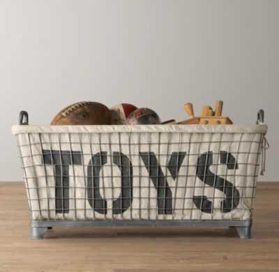 Industrial basket & toys liner - RH Baby & Child
