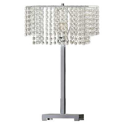 "Marlene 28"" H Table Lamp with Rectangular Shade - Wayfair"