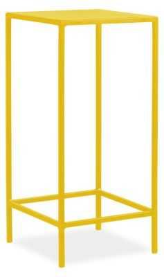 Slim End Table - 12x12x24 - Yellow - Room & Board