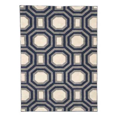 Ella Area Rug in Navy - Wayfair