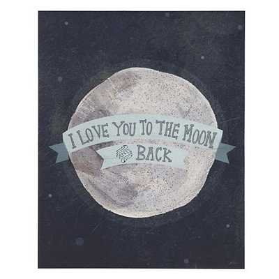Blue Moon and Back Poster Decal - Land of Nod