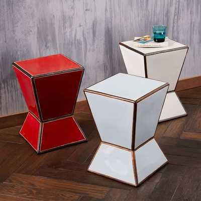Ceramic Trapezoid Side Table - West Elm