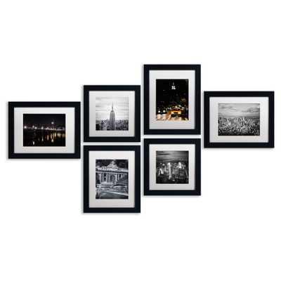 """Urban 6 Piece Framed Photographic Print Art Set - 28"""" H x 58"""" W x 0.5"""" D - Wayfair"""