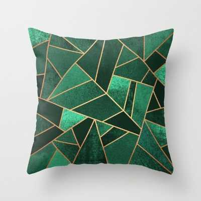 Emerald and Copper - 20 x 20 with insert - Society6