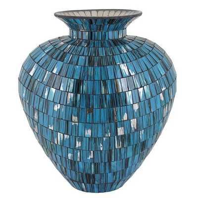 Essential Blue Mosaic Vase - Overstock