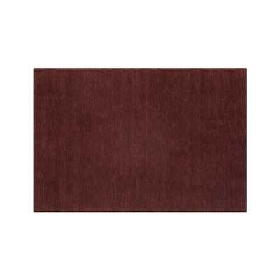 Baxter Wine Red Wool 8'x10' Rug - Crate and Barrel
