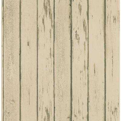 56 sq. ft. Weathered Plank Wallpaper - Beige - Home Depot