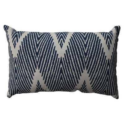"""Bali Navy Rectangular Throw Pillow - 18.5""""x11.5"""" - Polyester fill insert - Overstock"""