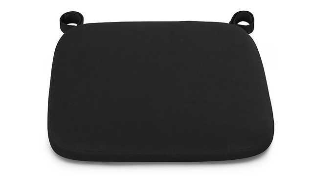 Delta Black Chair-Bar Stool Cushion - Crate and Barrel