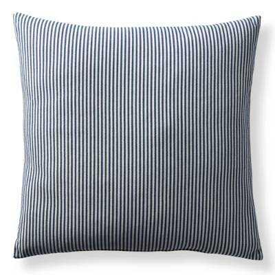 "Ticking Stripe Decorative Pillow - 22""sq - Down insert - Frontgate"