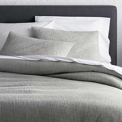 Lindstrom Duvet Cover - King, Grey - Crate and Barrel