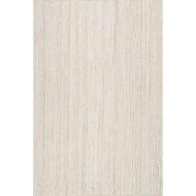 nuLOOM Handmade Eco Natural Fiber Braided Reversible Jute White Rug (9' x 12') - Overstock