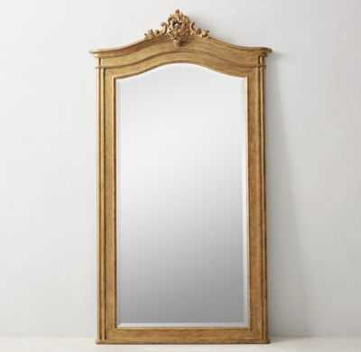 CARVED ACANTHUS LEANER MIRROR - RH Teen