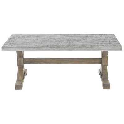 Lapo Industrial Loft Portobello Mindi Wood Coffee Table - Kathy Kuo Home