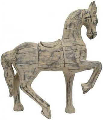 DISTRESSED WOOD HORSE FIGURINE - Home Decorators