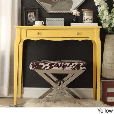 1-drawer Wood Accent Console Sofa Table - Yellow - Overstock