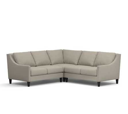 Pasadena Upholstered 3-Piece L-Shape Sectional With Corner - Pottery Barn