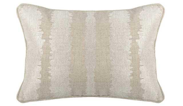 SA Mena Pearl Pillow - 14W x 20D - Feather/Down Insert - High Fashion Home