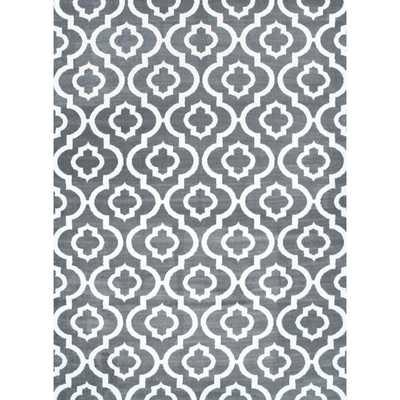 Grey Morrocan Trellis Area Rug (7'10 x 10'6) - Overstock
