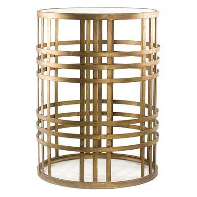 'Weave' Metal Barrel End Table - Overstock
