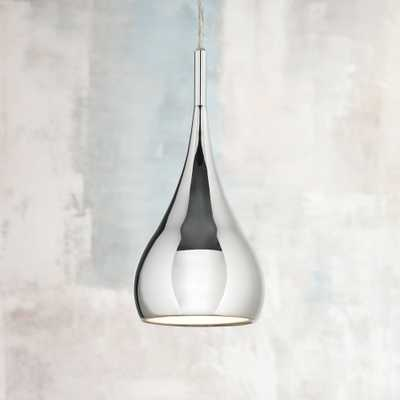Possini Euro Raindrop Chrome Finish Mini Pendant Light - Lamps Plus