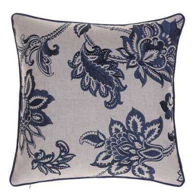 """Embroidered French Country Throw Pillow-20""""-Feather down insert - AllModern"""