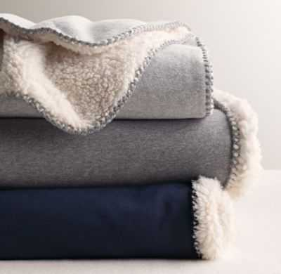 reversible sherpa bed throw - RH Baby & Child