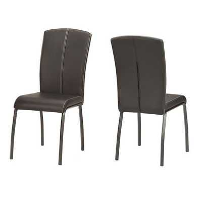 Danbury Metal Contoured Upholstered Dining Chair (Set of 2) - Overstock