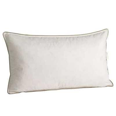 "Decorative Pillow Insert - Feather - 12""x21"" - White - West Elm"