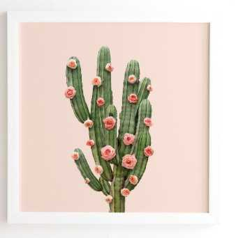 CACTUS AND ROSES- 30x30 - Wander Print Co.