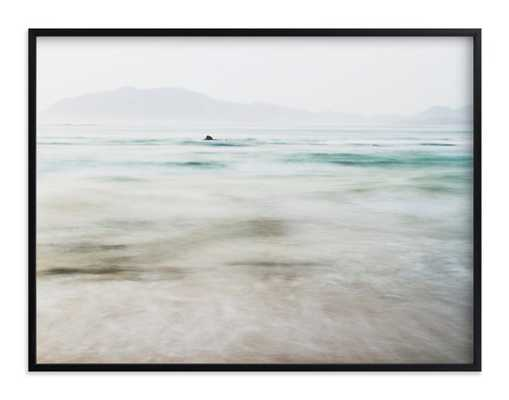 The Pacific - 40 x 30, black wood frame - Minted