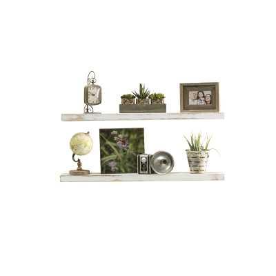 Evonne 2 Piece Wall Shelf Set - white - Wayfair