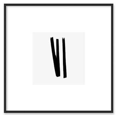 "Lines 2, 1 - Framed Art Print - Matte Black Metal, frame width 0.25"", depth 0.75"" - Artfully Walls"