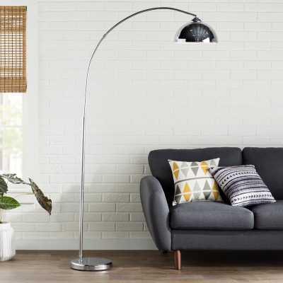Karlin Chrome Arched Floor Lamp - Wayfair