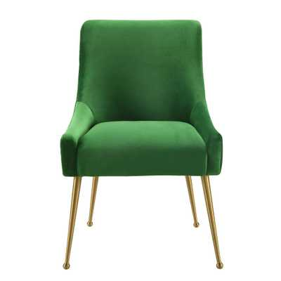 Beatrix Green Velvet Side Chair - Home Depot