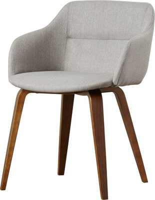 Corozon Upholstered Dining Chair- Single Chair - Grey - AllModern