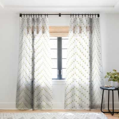 JUSTINE CHEVRON TAN SHEER CURTAIN - Wander Print Co.