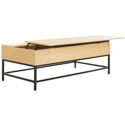 Reda Lift-Top Coffee Table with Storage light oak - Wayfair
