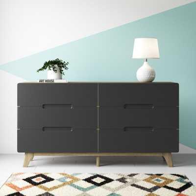 Conrad Wood 6 Drawer Double Dresser - Wayfair