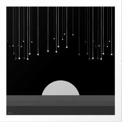 Falling Stars Art Print 8 x 8 - Society6