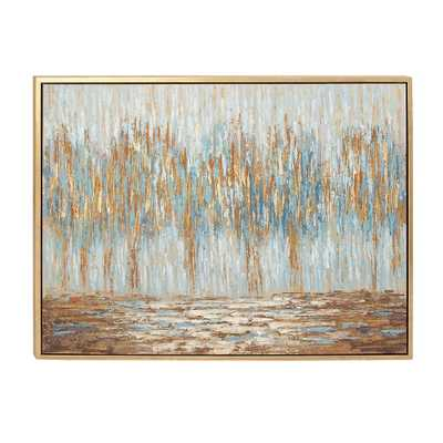"""36 in. x 47 in. Abstract """"Autumn Colorfield"""" Canvas Art - Home Depot"""