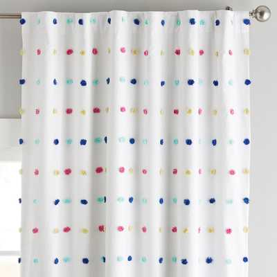 Tufted Dot Blackout Curtain Panel, 96, Multi -individual panel - Pottery Barn Teen