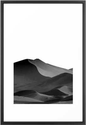 dunes(Black and white) Framed Art Print - Society6