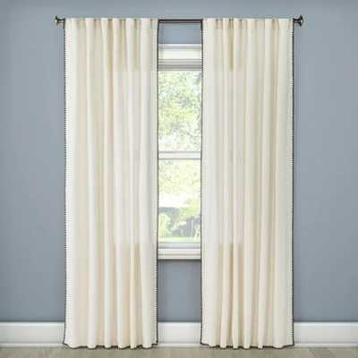 "Stitched Edge Curtain Panel - Threshold™ - 54"" x 95"" - Target"