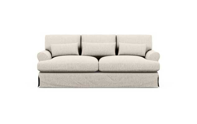 Maxwell Slipcovered Apartment sofa, wheat - Interior Define