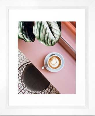 pink latte Framed Art Print - Society6