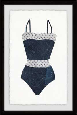 Marmont Hill Fancy Monokini 16-Inch x 24-Inch Framed Wall Art - Bed Bath & Beyond