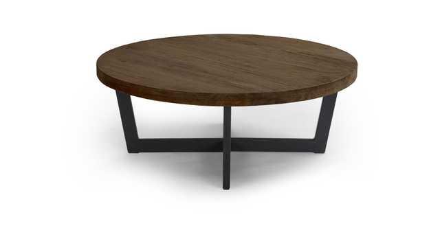 "Toba Vintage Brown Coffee Table, 39.5""Dia - Article"